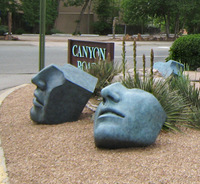 Large Faces outside in Santa Fe